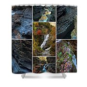 Finger Lakes Gorges Collage Shower Curtain