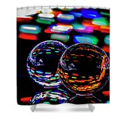Finger Light Painted Glass Ball Abstract Shower Curtain