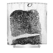 Fingerprints Of Vincenzo Peruggia, Mona Shower Curtain