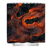 Fingers Of Lava Shower Curtain