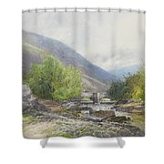 Fingle Bridge On The Teign Shower Curtain