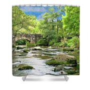 Fingle Bridge - P4a16007 Shower Curtain