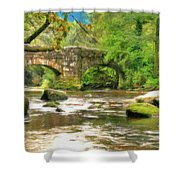 Fingle Bridge - P4a16013 Shower Curtain