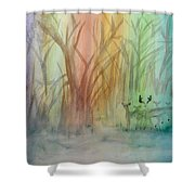 Finian's Rainbow Shower Curtain