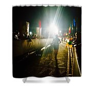 Finish Line Lights Shower Curtain