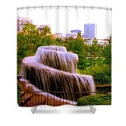 Finlay Park Fountain Summertime Shower Curtain