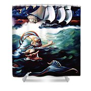 Finnegan's Quest Shower Curtain