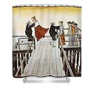 Finnish Symbolist Painter Shower Curtain