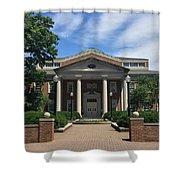 Roanoke College - Fintel Library Shower Curtain