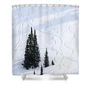 Fir And Snow Shower Curtain