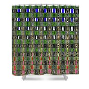 Fir Tree Forest Abstract #7215wt Shower Curtain