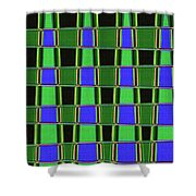 Fir Tree Fork Abstract #7075 Shower Curtain