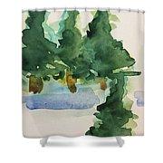 Fir Trees Shower Curtain
