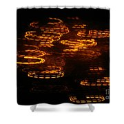 Fire Abstract  Shower Curtain