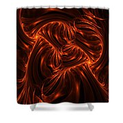 Fire Abstraction Shower Curtain