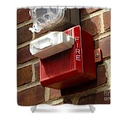 Fire Alarm Horn And Strobe Shower Curtain