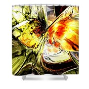 Fire And Desire Abstract Shower Curtain