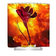 Fire And Flower Shower Curtain
