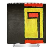 Fire And Gold Shower Curtain