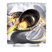 Fire And Ice Abstract Shower Curtain