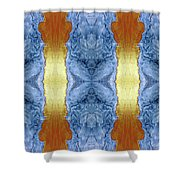 Fire And Ice - Digital 1 Shower Curtain
