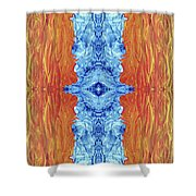 Fire And Ice - Digital 2 Shower Curtain