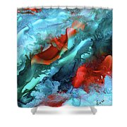 Fire And Ice Shower Curtain