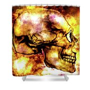 Fire And Skull Shower Curtain
