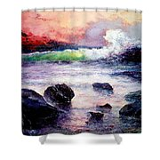Fire And Water 1.0  Shower Curtain