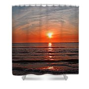 Fire At Twilight Shower Curtain