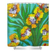 Fire Blossoms Shower Curtain