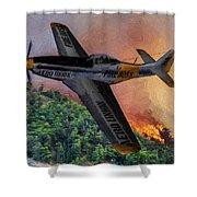 Fire Boss - Oil Shower Curtain