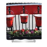 Fire Buckets Shower Curtain