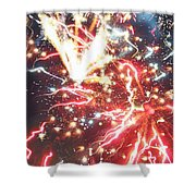 Fire Confetti Shower Curtain