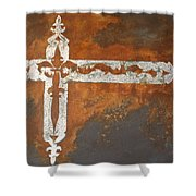 Fire Cross Shower Curtain