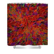 Fire Crystals Shower Curtain