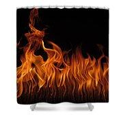 Fire Dancers Shower Curtain