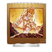 Fire Elemental Shower Curtain