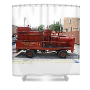Fire Engine Of Older Years  Shower Curtain
