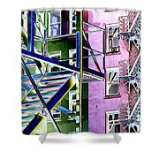 Fire Escape 2 Shower Curtain