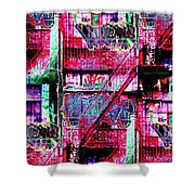 Fire Escape 3 Shower Curtain