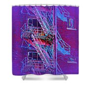 Fire Escape 4 Shower Curtain