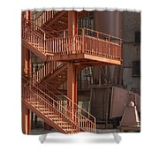Fire Escape And Platforms Shower Curtain