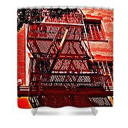 Fire Escape Shower Curtain