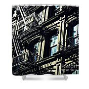 Fire Escape On Franklin Street 2 Shower Curtain