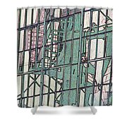 Fire Escape Reflection Shower Curtain