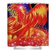 Fire Fairy Shower Curtain