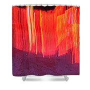 Fire Fence Shower Curtain