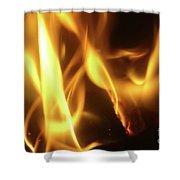 Fire  Feuer Shower Curtain