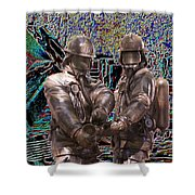 Fire Fighters Memorial Seattle Shower Curtain